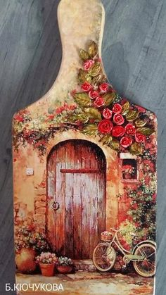 Discover thousands of images about Community wall photos Decoupage Vintage, Decoupage Art, China Painting, Tole Painting, Painting On Wood, Home Crafts, Diy And Crafts, Arts And Crafts, Pintura Tole