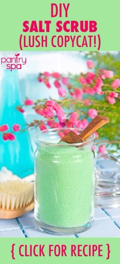 DIY Lush Inspired Recipes - DIY Lush Ocean Salt Scrub Homemade Recipe - How to Make Lush Products like Bath Bombs, Face Masks, Lip Scrub, Bubble Bars, Dry Shampoo and Hair Conditioner, Shower Jelly, Lotion, Soap, Toner and Moisturizer. Copycat and Dupes o