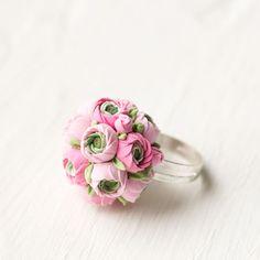 Flower ring wedding ring flower flower girl by GentleDecisions, $25.00