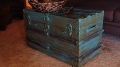 Painted trunk = coffee table