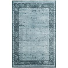 Anchor your living room seating group or define space in the den with this loomed rug, featuring a Persian-inspired motif in blue tones.