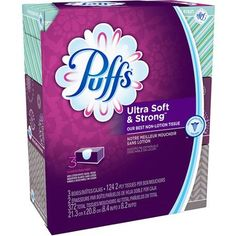 #walmart Puffs Ultra Soft & Strong Facial Tissues, 3 Family Boxes, 124 Tissues per Box - $4.47 (save 10%) #puffs #householdessentials #facialtissue