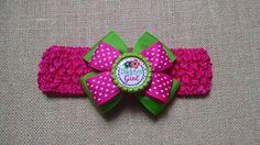 Daddys Girl Headband Baby Girl Headband Polka Dot Headband