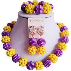 laanc Fashion 1Rows Purple-Yellow Nigerian Wedding Crysta... https://www.amazon.com/dp/B06WGZFZT4/ref=cm_sw_r_pi_dp_x_iYxRyb103BWCA