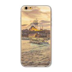 Phone Cases Landscape Scenery Ultra Thin Soft Silicone TPU Mountain City Tower Scenery Phone Case for iphone 6 7 7 Iphone 5s, Iphone Cases, Mountain City, Modern City, Iphone Models, 6s Plus, Scenery, Smartphone, Tower