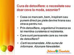 #Detoxifierea - o necesitate sau doar ceva la moda, #sezonier? --> http://naturapentrusanatate.com/cura-de-detoxifiere-este-o-necesitate-sau-doar-ceva-la-moda/