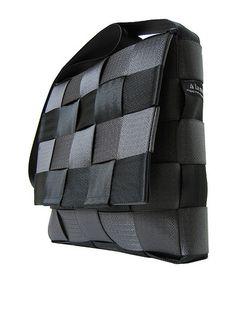 Woven seatbelt messenger bag
