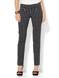 Shop 7th Avenue Design Studio - Slim-Leg Pull-On Pant - Modern - Leaner Fit - Ultra Stretch - Black. Find your perfect size online at the best price at New York