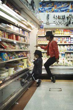 Photograph by Peter Funch.  Michael Jackson, Impersonators, Lemon Magazine, Portraits, NYC