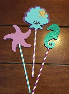 Under the Sea centerpiece  Set of 3  by HandcraftedByW on Etsy