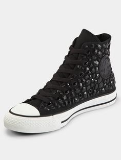 Converse Chuck Taylor All Star Hi PU Rhinestone Plimsolls - ShopStyle Trainers Converse Chuck Taylor All Star, Converse All Star, Zapatillas Casual, Cooler Look, Bling Shoes, Plimsolls, Converse Sneakers, Custom Shoes, Chuck Taylors
