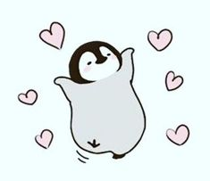 Its so cute penguin drawing foundonline Cute Little Drawings, Cute Animal Drawings, Kawaii Drawings, Easy Drawings, Pinguin Drawing, Pinguin Tattoo, Pinguin Illustration, Cute Illustration, Penguin Pictures