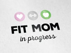 Logo design blog Fit mom in progress - www.logokoning.nl - #logodesign #logo #logokoning