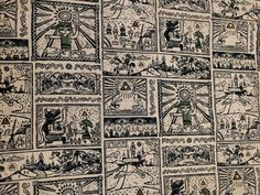 Video game Legend of Zelda Vintage Map World Link- Fat Quarter Fabric Cotton Print