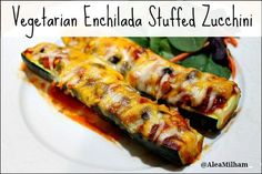 Vegetarian Enchilada Stuffed Zucchini Recipe Aleas Vegetarian Enchilada Stuffed Zucchini