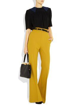The Row Dashford wide-leg wool-crepe pants NET-A-PORTER.COM