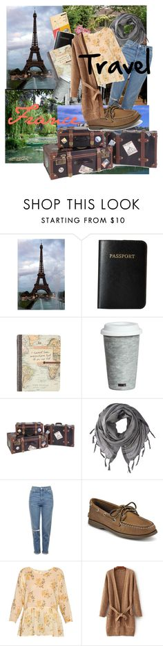 """""""travel"""" by maddie855 ❤ liked on Polyvore featuring Vera Bradley, Fitz & Floyd, IMAX Corporation, Love Quotes Scarves, Topshop, Sperry and The Great"""