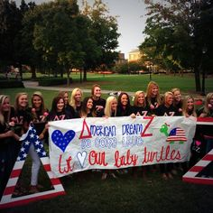 hey look who's on pinterest! those are some good lookin turts!   Xi Delta Chapter, Radford University, new members, Fall 2013