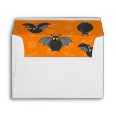 SURPRISE!: Halloween black vampire bats Envelope - fun gifts funny diy customize personal