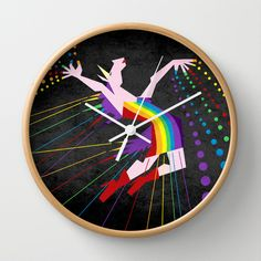 Unicorn Rainbow Maker V02 Wall Clock by That's So Unicorny - $30.00