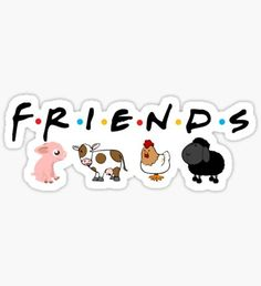 'friends not food' Sticker by scrambledtofu Going Vegetarian, Going Vegan, Vegan Vegetarian, Healthy Food Quotes, Vegan Quotes, Pop Stickers, Bumper Stickers, Inspirational Animal Quotes, Stop Animal Testing
