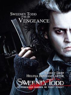 Sweeney Todd, le diabolique barbier de Fleet Street est un film de Tim Burton avec Johnny Depp, Helena Bonham Carter. C´est pas mon préféré mais son univers ne me laisse jamais indifférente.