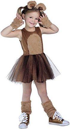 Brown-Bear-Costume-Tutu-Dress #ChildrenCostumes