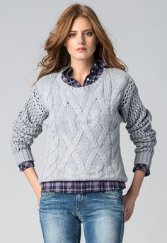Fashion Days - Najnowsza kolekcja! Hilfiger Denim - Sweter Fawn, kolor szary