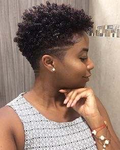 Natural Hair Shaved Sides/Undercut Mohawk – Women's Hairstyles – Tapered Hair Cut Tapered Natural Hair Cut, Natural Hair Short Cuts, Short Natural Haircuts, Short Hair Cuts, Natural Hair Styles, Tapered Afro, Short Afro Hairstyles, Tapered Natural Hairstyles, Black Hairstyles