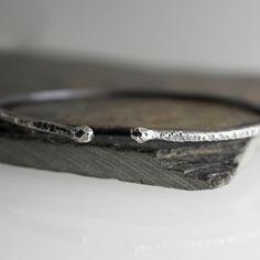 Dual Drop Bracelet,Cuff Bracelet,Sterling Silver Bracelet,Minimalist jewelry,Dual Bracelet,Handmade Bracelet,Stackable Bracelet,Gift for her by FashionArtJewelry on Etsy