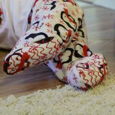 adding footies to pajamas DIY