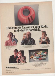 1972 Panasonic Toot aLoop Color Radio Advertisement by fromjanet, $5.00