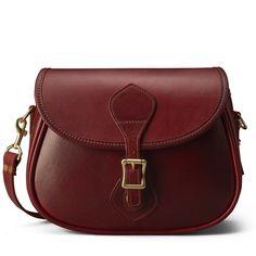 Oxblood Leather Shoulder Bag - Distressed Leather | J.W. Hulme Co.