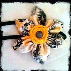 Sewed hair flower
