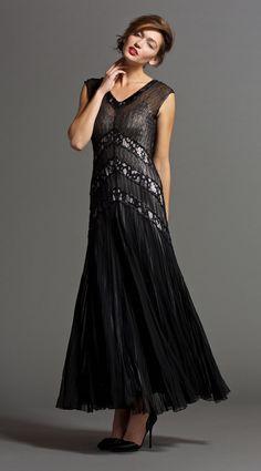 bfff758e9cb3 Long Dress W  Lace Insert Lace Insert