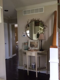 New wall color inspiration entryway 42 Ideas Tan Paint Colors, Valspar Paint Colors, Paint Colors For Home, Farmhouse Paint Colors, Farm House Colors, Favorite Paint Colors, Kitchen Wall Colors, Bedroom Wall Colors, Home Decor Colors