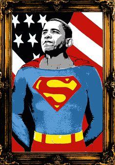 Mr. Brainwash. Obama Superman. Bienal del Cartel Bolivia BICeBé® 2013