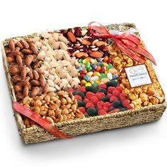 Summer Sweets and Nuts Grand Gift Basket - http://www.yourgourmetgifts.com/summer-sweets-and-nuts-grand-gift-basket/