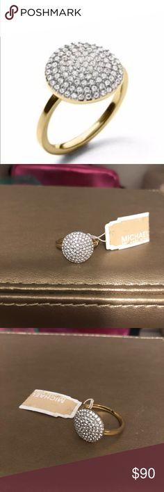 Michael Kors Gold Ring with Stones New with tags! Michael Kors Gold ring with stones. Comes with dust bag! Very cute and elegant! KORS Michael Kors Jewelry Rings #GoldJewelleryMichaelKors