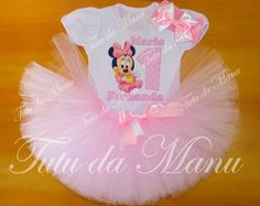 Fantasia Tutu Minnie Baby rosa