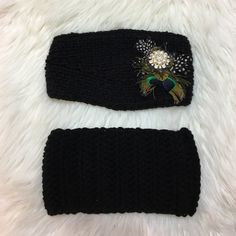 Black Knitted Headbands! • Black crocheted headbands!                                                                         • Feel free to ask for more measurements!                                                                                                     • Inquiry and offers appreciated! Accessories Hair Accessories