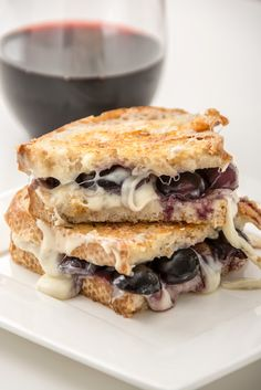 RED WINE + GRAPE + BRIE GRILLED CHEESE