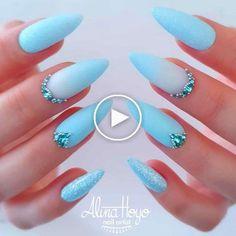 Fabulous Nails, Gorgeous Nails, Stylish Nails, Trendy Nails, Edgy Nails, Grunge Nails, Fancy Nails, Stiletto Nails, Light Blue Nails