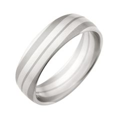 Christian Bauer Duo Men's Unique White and Grey Gold Wedding Band from Steven Singer Jewelers