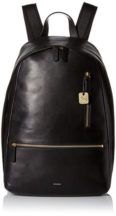 Skagen Men's Kroyer Leather Backpack - Black * For more information, visit image link. (This is an Amazon Affiliate link and I receive a commission for the sales)