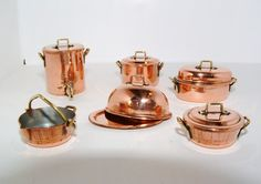 Copper Chafing Dish 1/12th dollshouse by CountryTreasuresUK