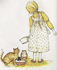 Holly Hobbie - When I was a little girl, a painting of this image hung on my bedroom wall.