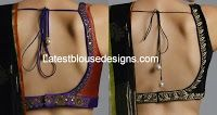 Low Back Neck Blouse Designs