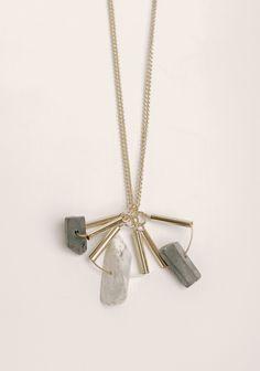 Set In Stone Pendant Necklace | Modern Vintage New Arrivals | Ruche