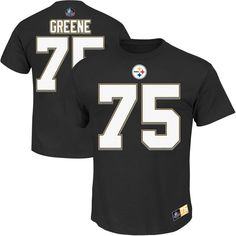 Joe Greene Pittsburgh Steelers Majestic Hall of Fame Eligible Receiver II Name & Number T-Shirt - Black